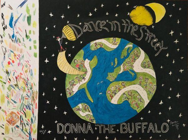 Donna The Buffalo Dance In The Street Print